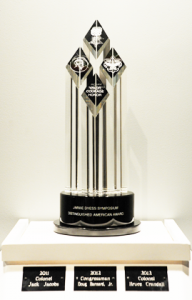 The Dyess Award showing the names of its three 2012 recipients